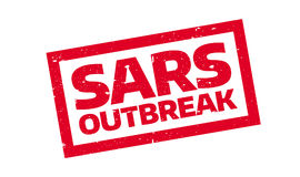 Sars Outbreak rubber stamp. Grunge design with dust scratches. Effects can be easily removed for a clean, crisp look. Color is easily changed Stock Image