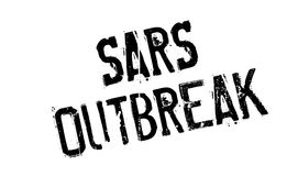 Sars Outbreak rubber stamp. Grunge design with dust scratches. Effects can be easily removed for a clean, crisp look. Color is easily changed Stock Photo