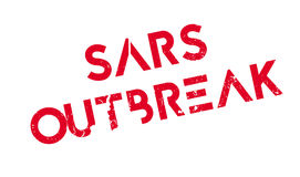 Sars Outbreak rubber stamp. Grunge design with dust scratches. Effects can be easily removed for a clean, crisp look. Color is easily changed Royalty Free Stock Photo