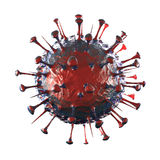 Sars Virus - Isolated on White Royalty Free Stock Images