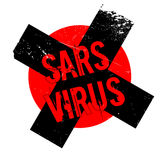 Sars Virus rubber stamp Stock Photography