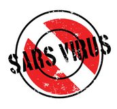 Sars Virus rubber stamp. Grunge design with dust scratches. Effects can be easily removed for a clean, crisp look. Color is easily changed Stock Photography