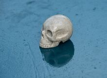 Sarsen stone skull from Avebury sacred site stock photo