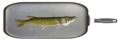 Sartén de los pescados Imágenes de archivo libres de regalías