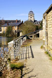 Sarthe river bank at Alençon in France Stock Images