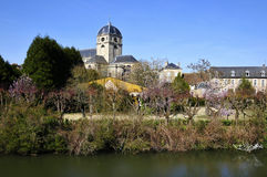 Sarthe river bank at Alençon in France Stock Image