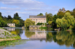 Sarthe river in France Royalty Free Stock Image