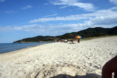 Sarti beach in greece. Beautiful landscape in greece on the beach Stock Images