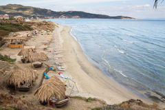 Sarti beach Stock Images
