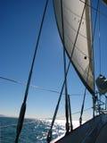 Sartiame della barca a vela fotografia stock