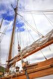 Sartiame della barca a vela Fotografie Stock