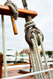 Sartiame della vela Fotografia Stock