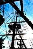 Sartiame della vela Fotografie Stock