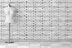 Sarto d'annata bianco Women Mennequin rappresentazione 3d illustrazione di stock