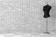 Sarto d'annata nero Women Mennequin rappresentazione 3d illustrazione vettoriale
