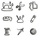 Sarto Shop Icons Freehand Fotografie Stock Libere da Diritti