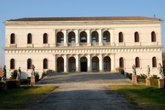 Sartori historic villa located in the village of Candiana in the province of Padua in Veneto (Italy). N the picture, taken at the south side of the villa itself Stock Photography