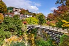 Saruhashi-Brücke von Otsuki Japan Stockfotografie