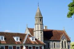 Sarum Colledge em Salisbúria, Wiltshire, Inglaterra foto de stock royalty free