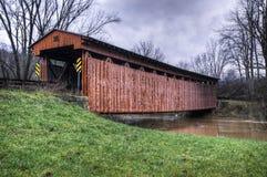 Sarvis liten vik täckt bro i West Virginia Royaltyfri Foto