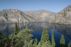 Sary Chelek lake Royalty Free Stock Images