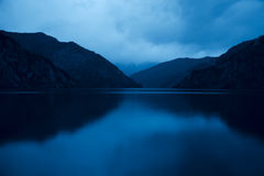 Sary Chelek lake in Kyrgyzstan, Night scene Stock Image