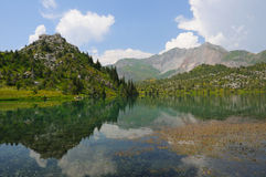 Sary-Chelek lake and mountains Stock Photos