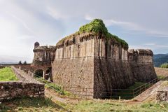 Sarzanello Medieval Fortress in Italy Stock Photo
