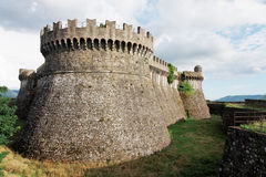 Sarzanello Medieval Fortress in Italy Royalty Free Stock Images