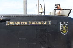 SAS女王/王后MODJADI 1军舰 免版税库存照片
