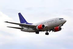 SAS斯堪的纳维亚航空公司波音737 库存图片
