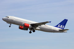 SAS Aerobus A320 Obraz Stock