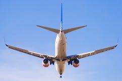 SAS Airlines plane landing Stock Images
