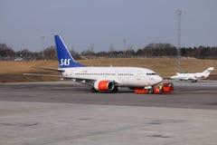 SAS Boeing 737 Royaltyfria Bilder