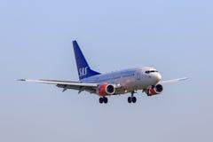 SAS Boeing 737 Royaltyfri Foto