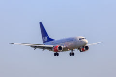 SAS Boeing 737 Foto de Stock Royalty Free