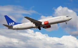 SAS Boeing 737 Imagem de Stock