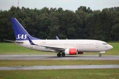 SAS Boeing 737 Royaltyfri Bild
