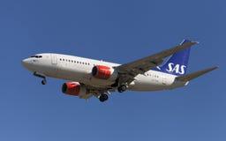 SAS Boeing 737-700 Royaltyfri Fotografi