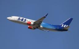 SAS Boeing 737-800 70 ans de livrée Images libres de droits