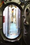 Sas d'accès de sous-marin diesel de balénoptère d'USS Images libres de droits