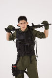 SAS de militair in toevallig stelt Stock Foto's
