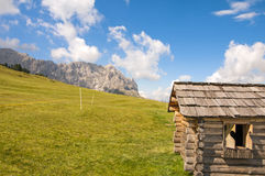 Sas de Putia,funes valley,south tyrol,Italy. Alpine landscape on italian dolomites Royalty Free Stock Images
