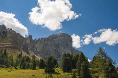Sas de Putia,funes valley,south tyrol,Italy. A great view of italian dolomites Royalty Free Stock Image