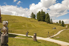 Sas de Putia,funes valley,south tyrol,Italy. A great view of italian dolomites Royalty Free Stock Photography