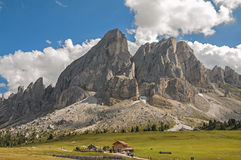 Sas de Putia,funes valley,south tyrol,Italy. Nice view of alpine landscape on dolomites,Italy Royalty Free Stock Photo