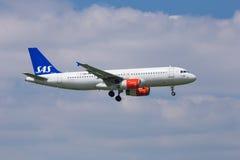 SAS flygbuss A320 arkivfoton