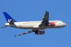 SAS flygbuss A320 royaltyfri fotografi