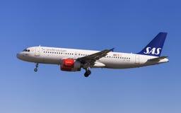 SAS flygbuss A320 arkivbilder