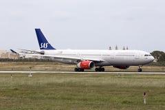 SAS A330 after maintenance at LTM Royalty Free Stock Image